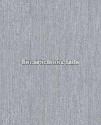 ED853C0 - Papel Pintado Vinílico Gris y Plateado de Tela