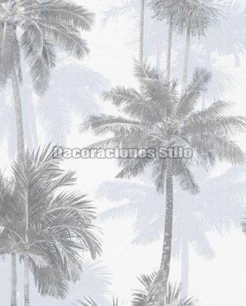 ED883C0 - Papel Pintado Vinílico Blanco y Gris de Árboles