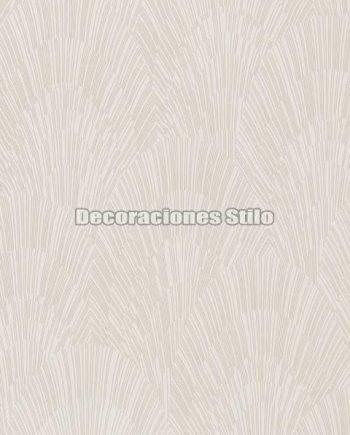 ED902C0 - Papel Pintado Vinílico Beige y Brillo de Abanicos
