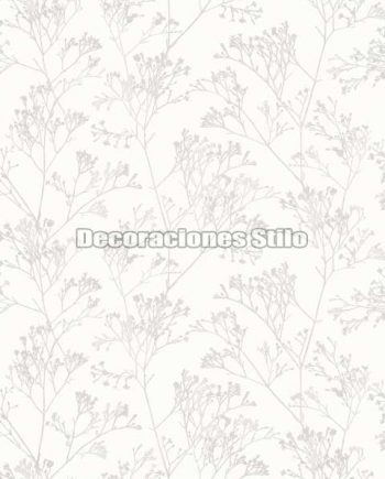 EX674C010 - Papel Pintado Vinílico Blanco, Roto y Beige de Ramas