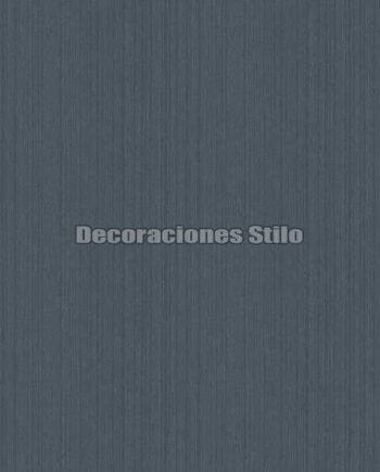 EX674C140 - Papel Pintado Vinílico Azul y Plateado de Rayado