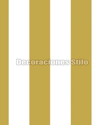FAM901C260 - Papel Pintado Amarillo y Blanco de Rayas