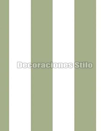 FAM901C290 - Papel Pintado Verde y Blanco de Rayas