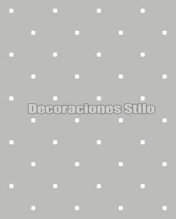 FAM902C420 - Papel Pintado Gris y Blanco de Cuadros
