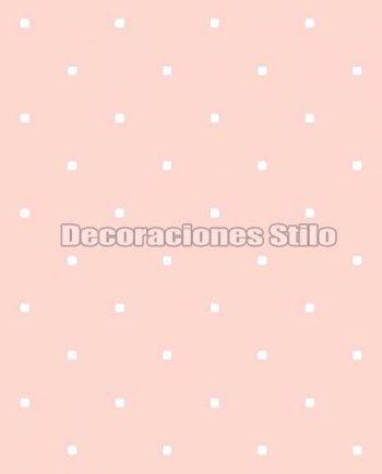 FAM902C430 - Papel Pintado Rosa y Blanco de Cuadros