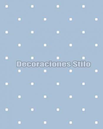 FAM902C440 - Papel Pintado Azul y Blanco de Cuadros