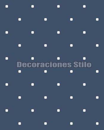 FAM902C450 - Papel Pintado Azul y Blanco de Cuadros