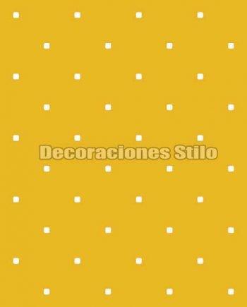 FAM902C460 - Papel Pintado Amarillo y Blanco de Cuadros