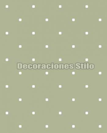 FAM902C490 - Papel Pintado Verde y Blanco de Cuadros