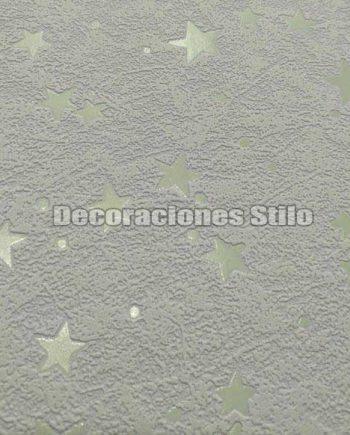 FAM971C004 - Papel Pintado Vinílico Azul de Estrellas